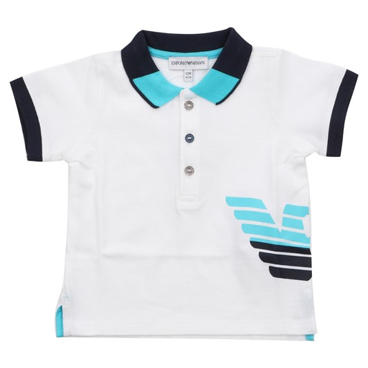 Emporio Armani Cotton piqué polo shirt with maxi logo