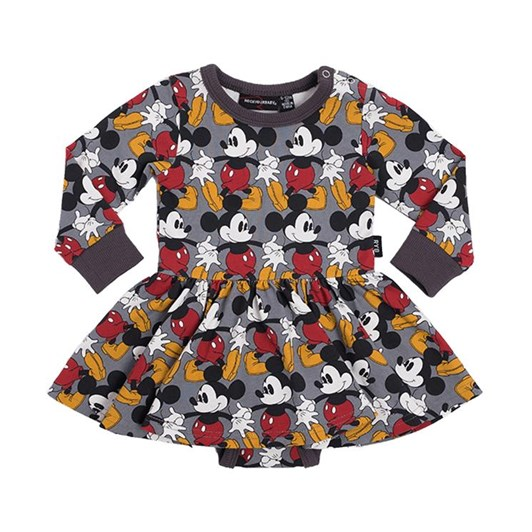 Rock Your Baby Marching Mickey - Ls Waisted Dress