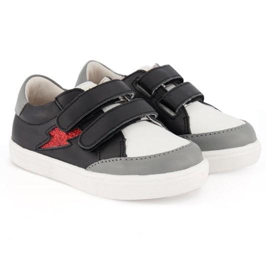 Pretty Brave Xo Trainer Black Rock Shoes