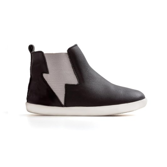 Pretty Brave Electric Boot Black With Grey Shoes