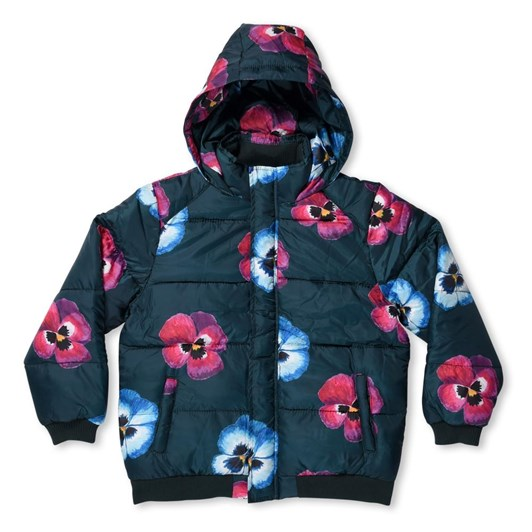 Minti Painted Pansy Puffa Jacket
