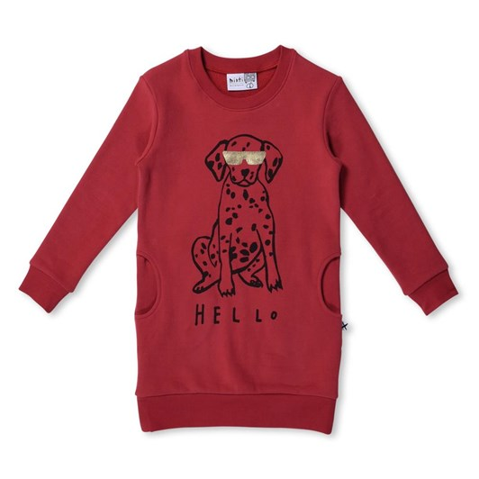 Minti Hello/Bye Dog Furry Crew Dress