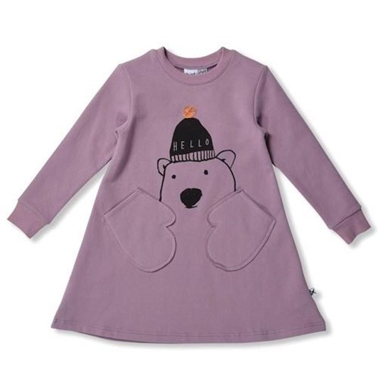 Minti Polar Bear Furry Mitten Dress