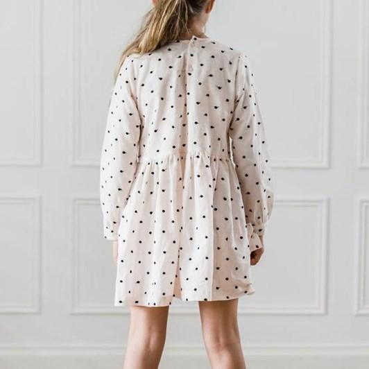 Petite Amalie Black Embroidered Dot Pocket Dress
