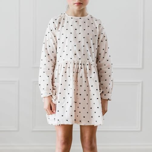 Petite Amalie Black Embroidered Dot Pocket Dress
