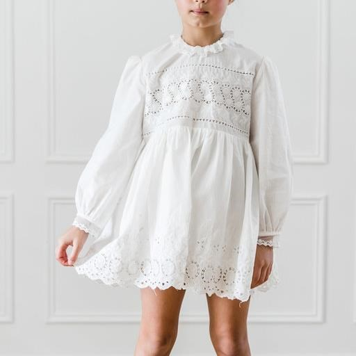 Petite Amalie Embroidered Babydoll Dress