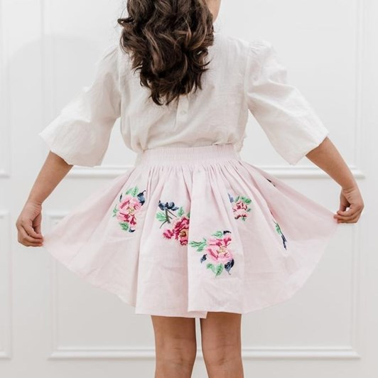 Petite Amalie Embroidered Skirt