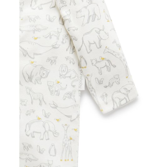 Purebaby Printed Zip Growsuit