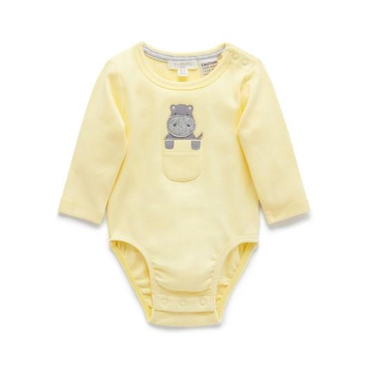 Purebaby Hippo Bodysuit