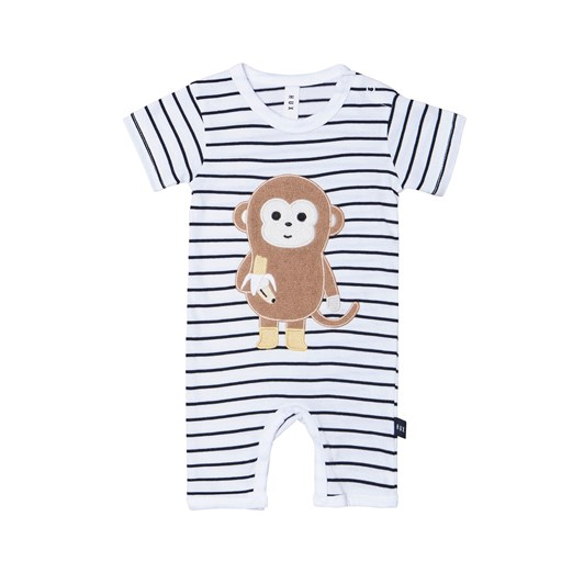Huxbaby Monkey Short Romper