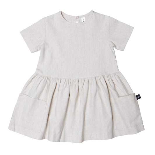 Huxbaby Natural Linen Dress