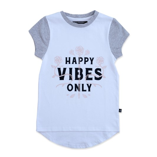Hello Stranger Happy Vibes Scoop Tee