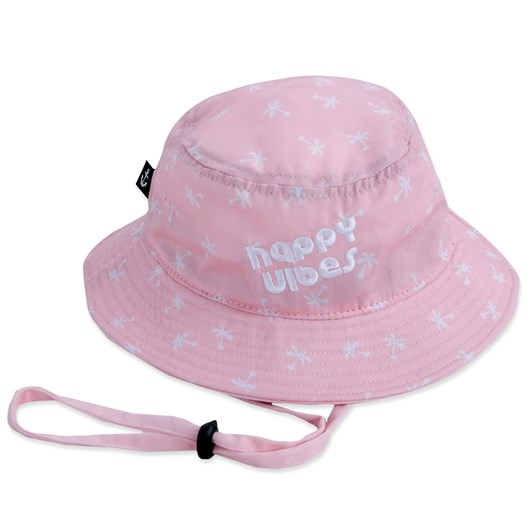 Hello Stranger Happy Vibes Bucket Hat