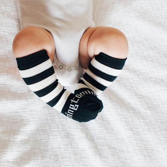 Lamington Socks Go Black Knee High