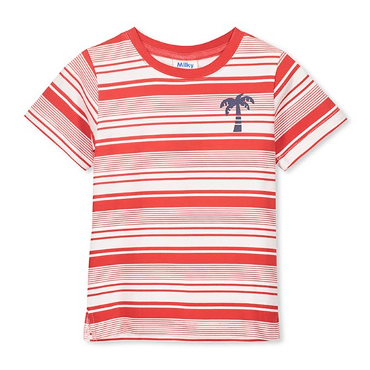 Milky Red Stripe Tee
