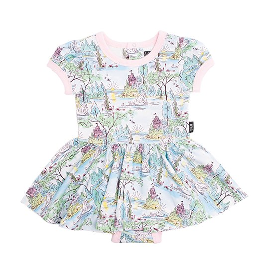 Rock Your Baby Swan Castle Ss Waisted Dress