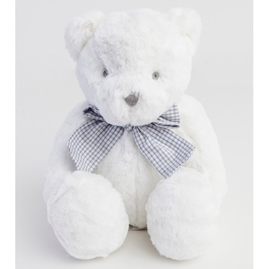 Gingerlilly White Bear With Check Bow