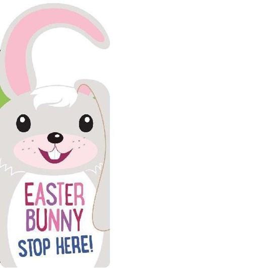 Blue Duck Books Door Hanger Easter Bunny Stop Her