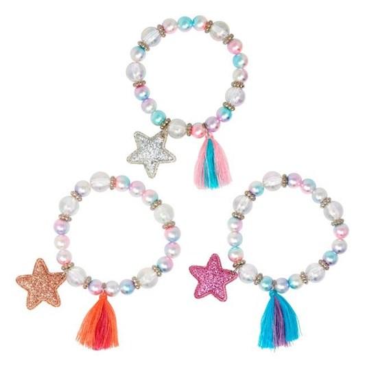 Pink Poppy Stars & Tassels Bracelet