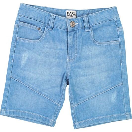 Karl Lagerfeld Kids Denim Bermuda Shorts