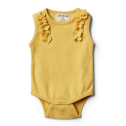 Wilson And Frenchy Jojoba Bodysuit with Ruffle