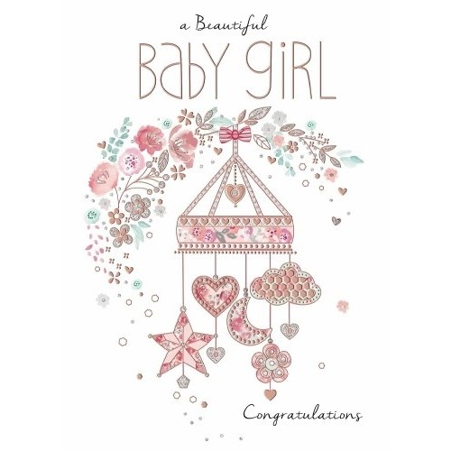 Oxted Baby - A Beautiful Baby Girl Card