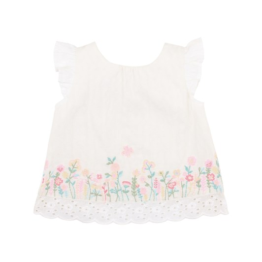 Bebe Flora Embroidered Top