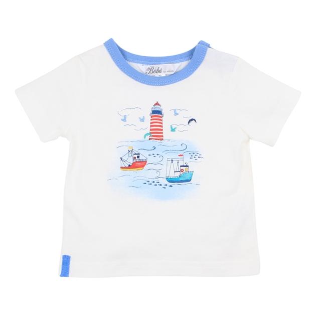 Bebe Archer Lighthouse Tee - cloud