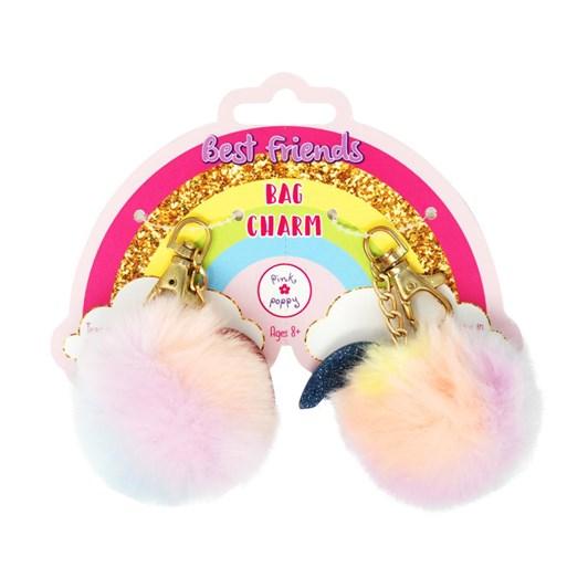 Pink Poppy Cotton Candy BFF Pom Pom Bag Charms