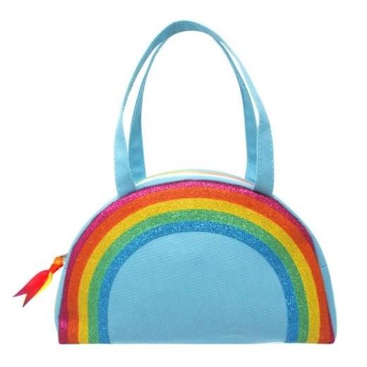 Pink Poppy Raining Rainbows Bowling Bag - Blue