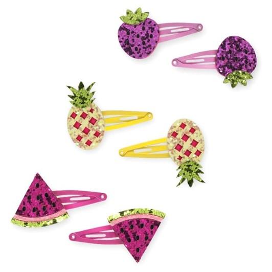 Pink Poppy Glitter Fruit Hairclip