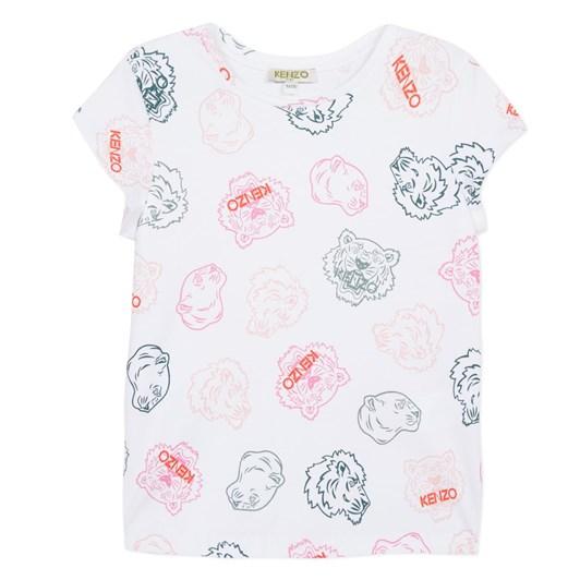 Kenzo Kids Crazy Jungle Jg Tee Shirt