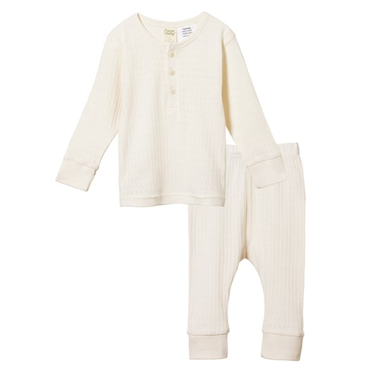 Nature Baby 2Pc Long Sleeve Pointelle Pyjamas