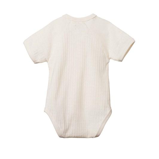 Nature Baby Pointelle Short Sleeve Kimono Bodysuit