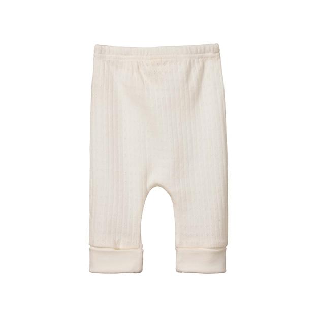 Nature Baby Drawstring Pants Pointelle - natural
