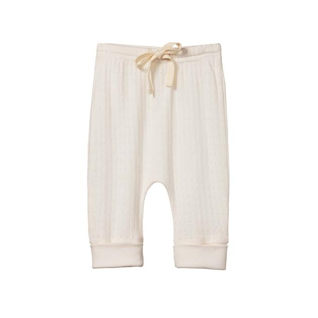 Nature Baby Drawstring Pants Pointelle -