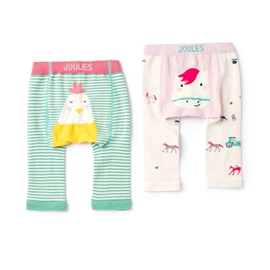 Joules Lively 2 Pack Intarsia Legging