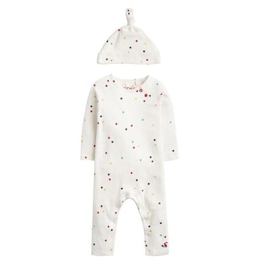 Joules Giggle Supersoft Babygrow NB - 24 Months