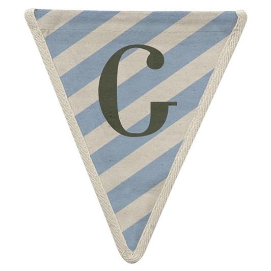 Oxted Meri Meri Bunting Blue Diagonal G Pennant