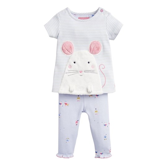 Joules Poppy Applique Top And Trouser Set 0-24 Months