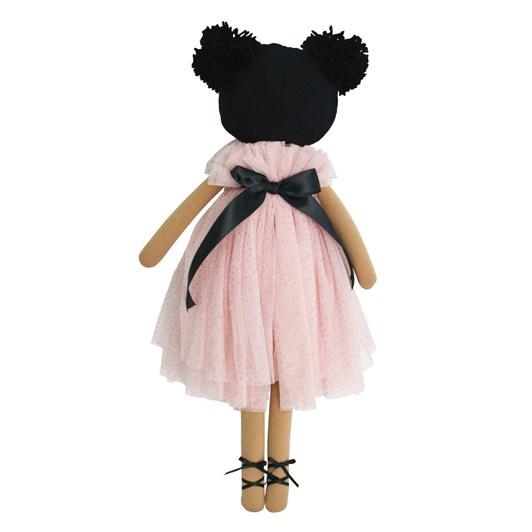 Alimrose Valentina Pom Pom Doll Sparkle Pink 48cm