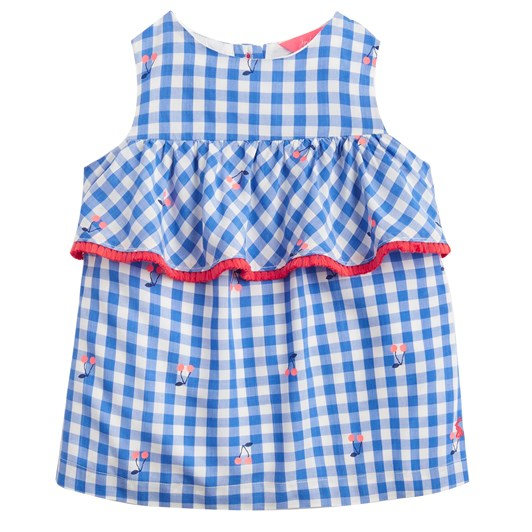 Joules Alice Blue Cherry Gingham Top
