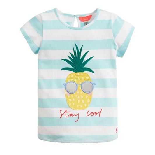 Joules Maggie Aqua Stripe Pineapple Top