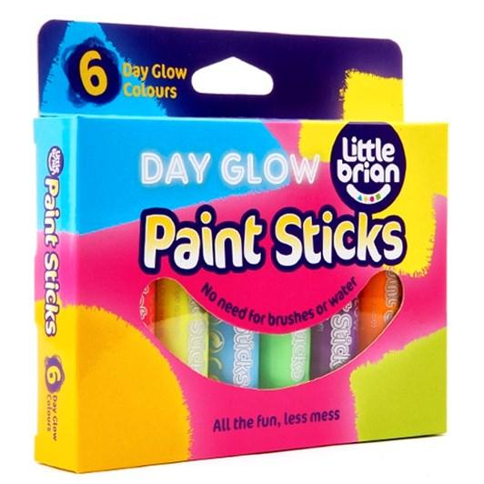 Little Brain Classic Paint Sticks Day Glow 6 Asst