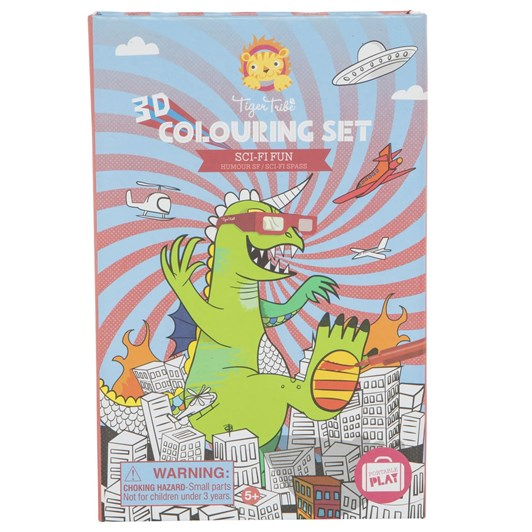Tiger Tribe 3D Colouring Set Sci Fi Fun