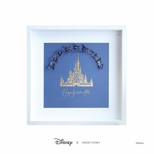 Short Story Disney Large White Frame Castle