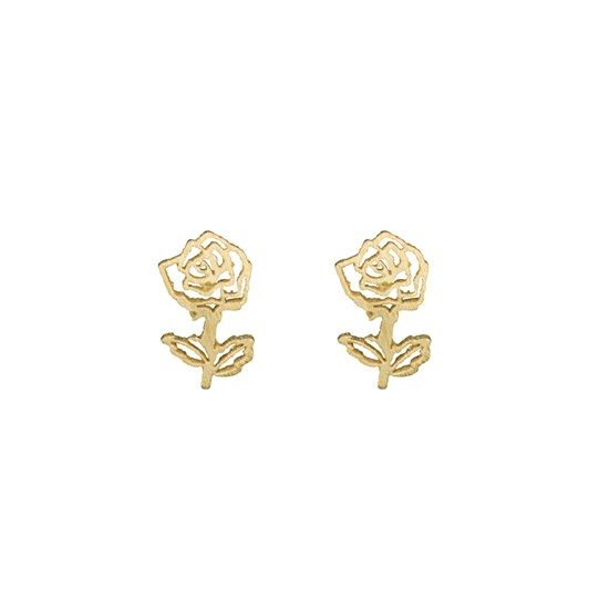 Short Story Disney Earring Belle Rose Gold