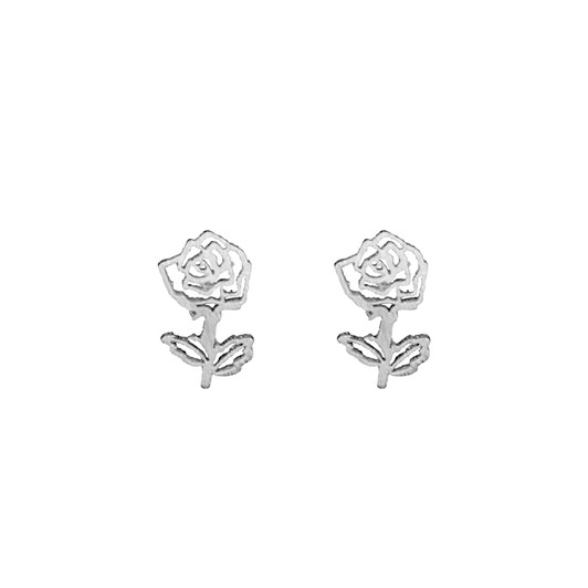 Short Story Disney Earring Belle Rose Silver
