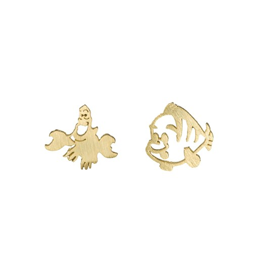 Short Story Disney Earring Ariel Sebastian And Flounder Gold