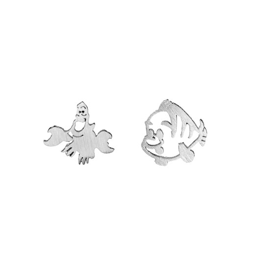 Short Story Disney Earring Ariel Sebastian And Flounder Silver